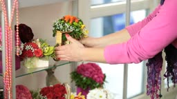Flower Arrangements In Florist Shop