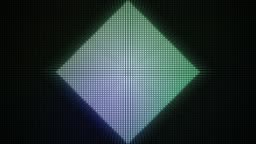 Loopable animated background of a colourful diamond shaped light display. HD 1080p quality 29.97fps.