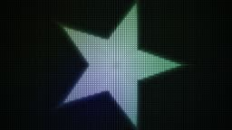 Loopable animated background of a colourful star shaped light display. HD 1080p quality 29.97fps.
