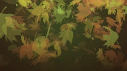 High definition animated background loop of autumn leaves falling randomly.