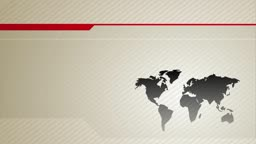Animated background illustration of a world map on a modern, graphic interface. Animates in.