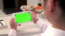 Internet Green Screen Monitor Business Man Businessman Ipad Tablet Technology