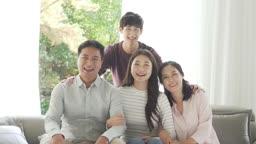행복한 가족 모습