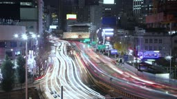 서울 중구 남대문 세종대로 퇴근길 차량 야경