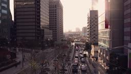 서울 중구 퇴계로 서울로7017 늦은 오후 풍경