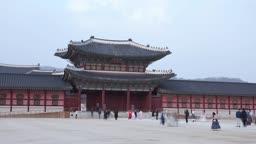 서울 종로구 경복궁 흥례문 낮 풍경