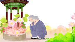 a10679611_연꽃과 기도하는 동자승