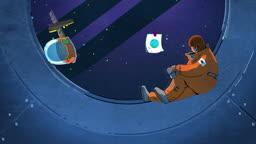 jv11110397_우주선에서 지구를 그리워 하는 우주선원