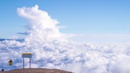 미국 하와이 빅아일랜드 마우나케아 천문대 구름 풍경