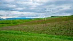 이탈리아 토스카나 발도르차평원 봄 풍경