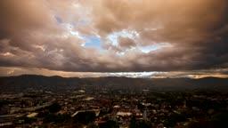 멕시코 오학사카 도심 낮과 밤