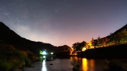 전북 계곡 밤하늘 풍경