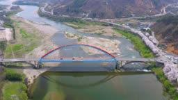 경남 하동군 섬진강 남도대교 모습