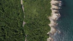 부산 남구 이기대도시자연공원 이기대 차량 이동 모습